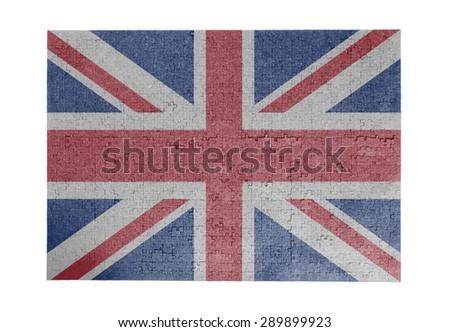Large jigsaw puzzle of 1000 pieces - flag - United Kingdom - stock photo