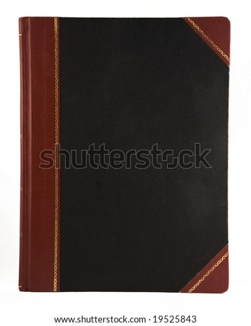 large leather book - stock photo