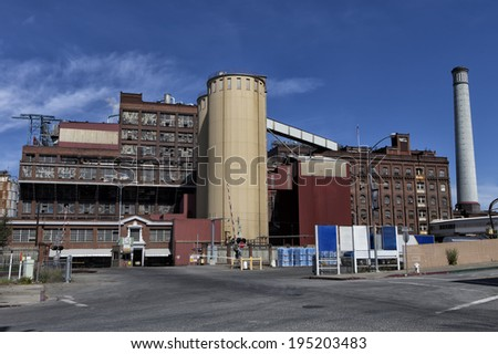Large old factory - stock photo