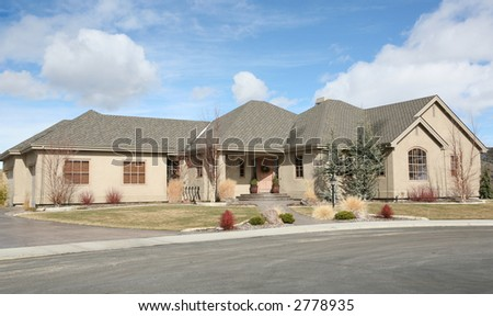Large one level home - stock photo