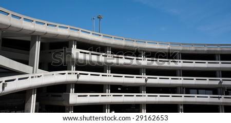 Large Parking Garage at the San Francisco International Airport - stock photo