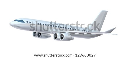 Large passenger plane. My own design. - stock photo