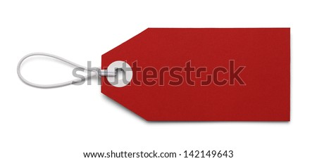 Large Price Tag with Copy Space  Isolated on White Background. - stock photo