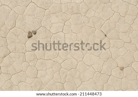 Large salt flat dry lake bed along Nevada 267 near Scottys Junction and Death Valley National Park - stock photo