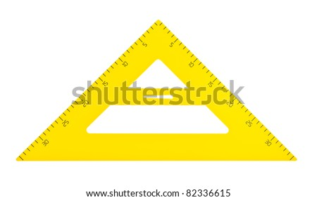 Large school triangle. Isolated on white background. - stock photo
