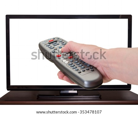 Large screen tv for movies and sports - stock photo