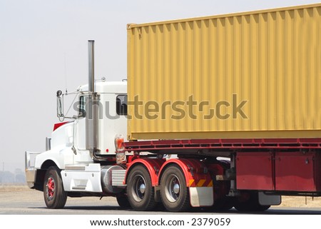 Large semi truck - stock photo