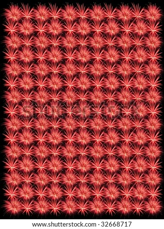Large Size Firework Pattern - Warm Hue - stock photo