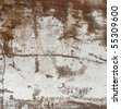 large slate of white rusted metal - stock photo