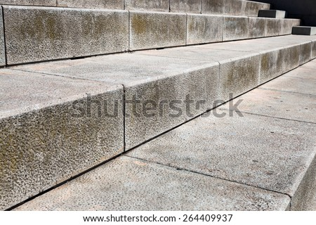 large stone steps close-up on a summer day - stock photo