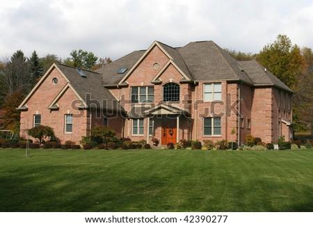 Large suburban home - stock photo