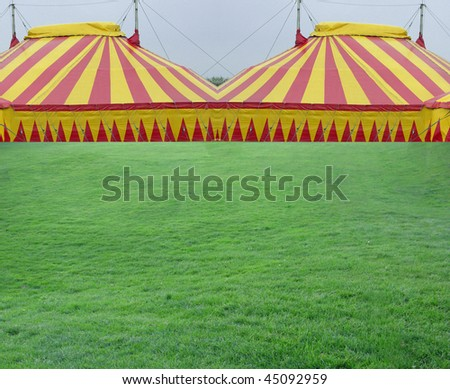 Large tent for events from sports to weddings - stock photo