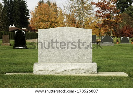 Large Tombstone  - stock photo