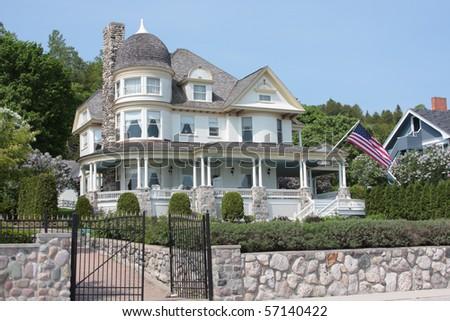 Large victorian era mansion - stock photo