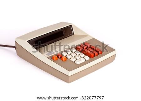 Large Vintage Calculator - stock photo