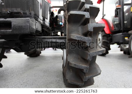 Large  wheel rim, for machinery used in agriculture. Detail  - stock photo