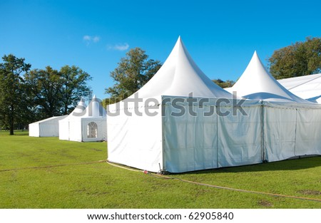 large white tent for large events - stock photo