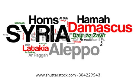 Largest Cities of Syria - stock photo