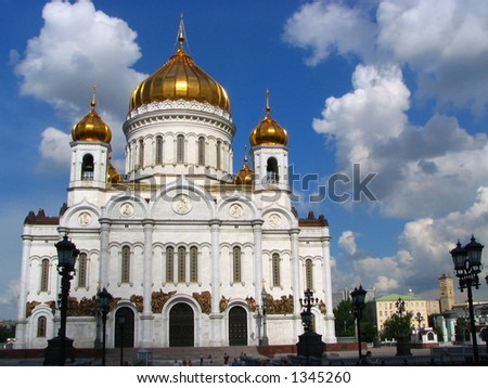 Largest temple of Russia - stock photo
