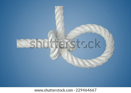 Lariat Loop Knot is one of the favorite knot for sports. - stock photo