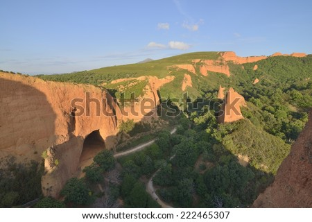 Las M�©dulas - historical roman mine, Spain - stock photo
