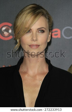 LAS VEGAS - APR 21: Charlize Theron at the Warner Bros. Pictures Exclusive Presentation Highlighting the Summer of 2015 and Beyond at Caesars Pallace on April 21, 2015 in Las Vegas, NV - stock photo