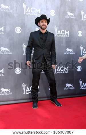 LAS VEGAS - APR 6:  Craig Campbell at the 2014 Academy of Country Music Awards - Arrivals at MGM Grand Garden Arena on April 6, 2014 in Las Vegas, NV - stock photo