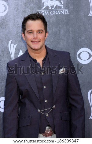 LAS VEGAS - APR 6:  Easton Corbin at the 2014 Academy of Country Music Awards - Arrivals at MGM Grand Garden Arena on April 6, 2014 in Las Vegas, NV - stock photo