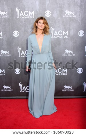 LAS VEGAS - APR 6:  Faith Hill at the 2014 Academy of Country Music Awards - Arrivals at MGM Grand Garden Arena on April 6, 2014 in Las Vegas, NV - stock photo