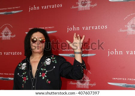 LAS VEGAS - APR 17:  Gene Simmons at the John Varvatos 13th Annual Stuart House Benefit at the John Varvatos Store on April 17, 2016 in West Hollywood, CA - stock photo
