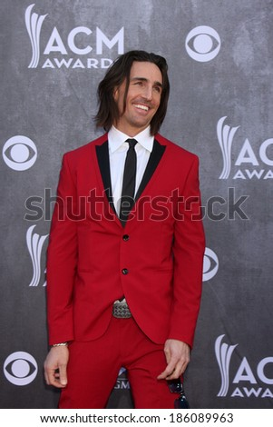 LAS VEGAS - APR 6:  Jake Owen at the 2014 Academy of Country Music Awards - Arrivals at MGM Grand Garden Arena on April 6, 2014 in Las Vegas, NV - stock photo