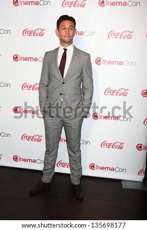 LAS VEGAS - APR 18:  Joseph Gordon-Levitt in the CinemaCon Big Scrren Achievement Awards  press room at the Caesars Palace on April 18, 2013 in Las Vegas, NV - stock photo