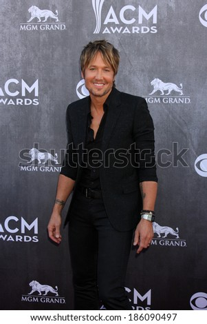 LAS VEGAS - APR 6:  Keith Urban at the 2014 Academy of Country Music Awards - Arrivals at MGM Grand Garden Arena on April 6, 2014 in Las Vegas, NV - stock photo