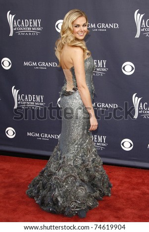 LAS VEGAS - APR 03:  Laura Bell Bundy arrives for the 46th Academy of Country Music Awards at the MGM Grand Hotel and Casino in Las Vegas, Nevada on April 3,2011. - stock photo