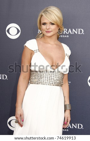 LAS VEGAS - APR 03:  Miranda Lambert arrives for the 46th Academy of Country Music Awards at the MGM Grand Hotel and Casino in Las Vegas, Nevada on April 3, 2011. - stock photo