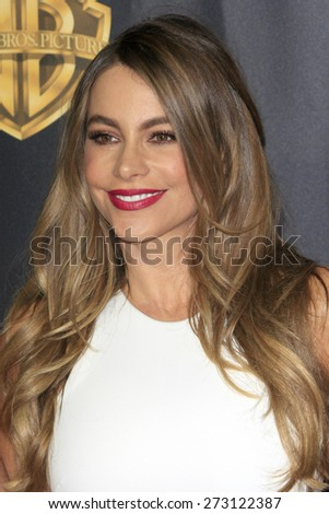LAS VEGAS - APR 21:  Sofia Vergara at the Warner Brothers 2015 Presentation at Cinemacon at the Caesars Palace on April 21, 2015 in Las Vegas, CA - stock photo