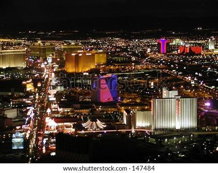 Las Vegas at Night - stock photo