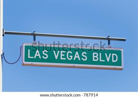 las vegas blvd  (strip) street sign (main street of Vegas) - stock photo