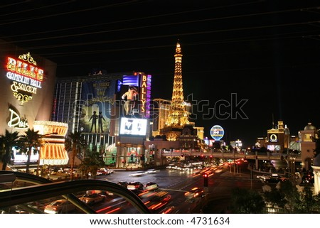 Las Vegas By Night - stock photo