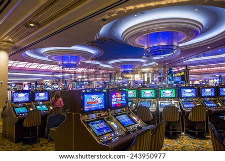 LAS VEGAS - DEC 23 : The interior of the Venetian hotel & Casino in Las Vegas on December 23, 2014. With more than 4000 suites it's one of the most famous hotels in the world. - stock photo