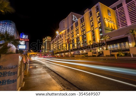 LAS VEGAS - JUNE 11 : The Cromwell Hotel in Las Vegas on June 11 2015 ,  has 188 rooms and a casino with 40,000 square feet of gaming space. - stock photo
