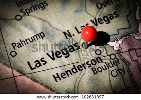 Las Vegas map - stock photo