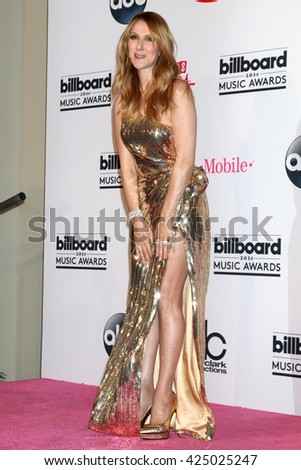 LAS VEGAS - MAY 22:  Celine Dion at the Billboard Music Awards 2016 at the T-Mobile Arena on May 22, 2016 in Las Vegas, NV - stock photo