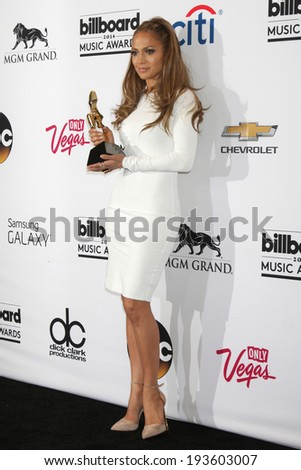 LAS VEGAS - MAY 18:  Jennifer Lopez at the 2014 Billboard Awards at MGM Grand Garden Arena on May 18, 2014 in Las Vegas, NV - stock photo