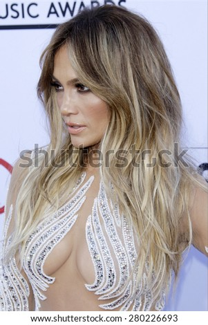 LAS VEGAS - MAY 17: Jennifer Lopez at the 2015 Billboard Music Awards at the MGM Grand Garden Arena on May 17, 2015 in Las Vegas, Nevada. - stock photo