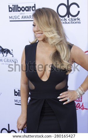 LAS VEGAS - MAY 17: Mariah Carey at the 2015 Billboard Music Awards at the MGM Grand Garden Arena on May 17, 2015 in Las Vegas, Nevada. - stock photo