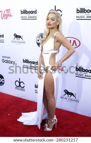LAS VEGAS - MAY 17: Rita Ora at the 2015 Billboard Music Awards at the MGM Grand Garden Arena on May 17, 2015 in Las Vegas, Nevada. - stock photo