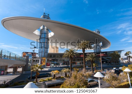 LAS VEGAS, NEVADA - APRIL 11, 2011: Fashion Show Mall placed at Strip on April 11, 2011 in Las Vegas, Nevada. One of the largest malls in the world with more than 250 stores - stock photo
