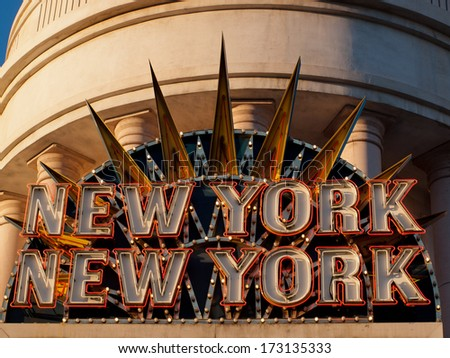 Las Vegas, Nevada-October 28, 2011: The New York, New York hotel in Las Vegas, Nevada. - stock photo