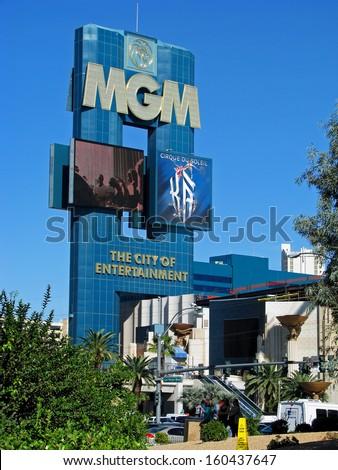 LAS VEGAS, NEVADA, USA  - NOVEMBER 11, 2012: MGM Grand Marina Hotel Casino  - stock photo